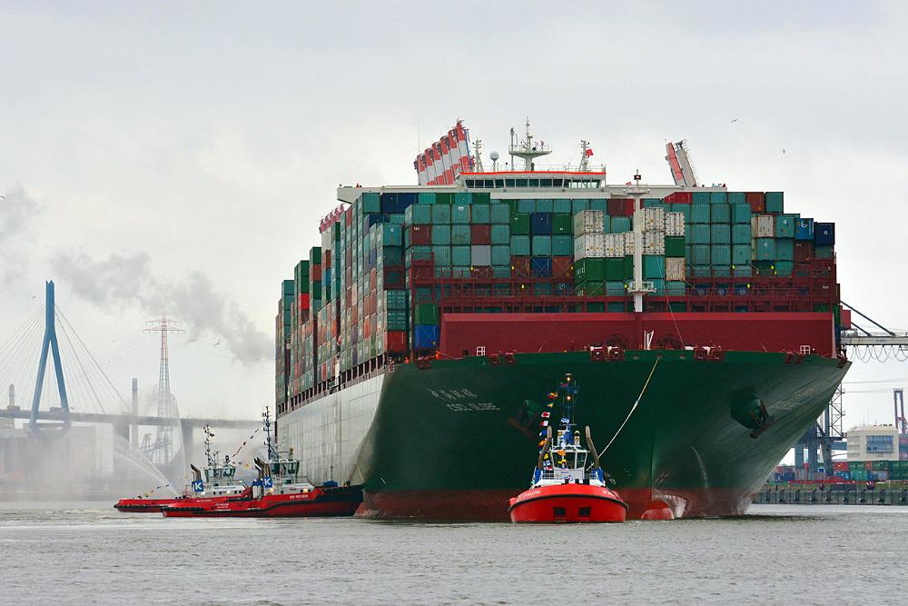 SLC - Cscl Globe Beim Erstanlauf In Den Hamburger Hafen Copyright Hhm Hasenpusch 1